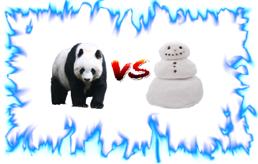 panda_vs_snowman